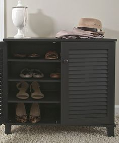 Love this! Espresso Small Shoe Cabinet on #zulily! #zulilyfinds