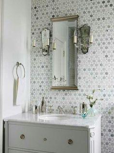 Bathroom // small hexagonal tile