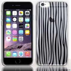 Housse Silicone iPhone 6s Zebre - Protection Souple design Customisé. #iPhone6s #Zebre