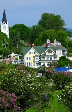Mackinac Island, looking down from Fort Mackinac.