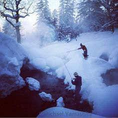 Trout fishing is a year round sport in streams warmed by hotspring waters…