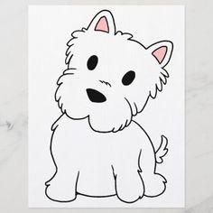 Cartoon Photo, Cartoon Dog, Cartoon Drawings, Animal Drawings, Easy Drawings, Dog Drawings, Puppy Drawing Easy, Dog Drawing Simple, West Highland White Terrier