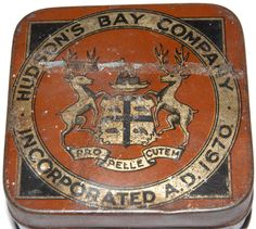 Hudson's Bay Company Plug Tobacco Plug - Fur Trade n. Mountain Man Rendezvous, Longhunter, Fur Trade, Native American Crafts, Canadian History, Hudson Bay, Red River, Le Far West, Vintage Tins