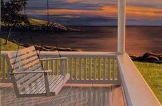I have always wanted a simple white porch swing!! And yes, to watch the sunset from ;)