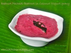 Beetroot Pachadi (Kerala Style Mild Spicy Beetroot Curry / Beetroot in Coconut Yogurt Gravy/ Beetroot Recipe For Onam/ Vishu Sadya) http://bit.ly/2cFx3pH #vishurecipes #kerala #keralarecipes #raniskitchenmagic