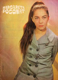 "Romanian actress Margareta Pogonat. Pinup from ""Cinema"" magazine (July 1969)"