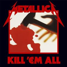 Metallica released 'Kill 'em All' today in #music #history, 25 July #1983. #Metallica #metal #rock #eighties #80s #remember #albumcover #Spinogle