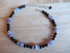 Hypersthene and amethyst choker £10.00