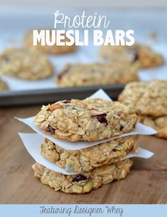 Protein Muesli Bars - Fit Foodie Finds