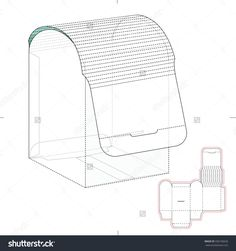 Dispensers Box With Die Cut Template Stock Vector Illustration 336150626 : Shutterstock