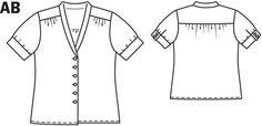 Satin Blouse 05/2014 #131A – Sewing Patterns   BurdaStyle.com