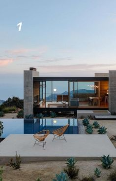 Facade Swipe left and enjoy! Tag an Lover!- Facade Swipe left and enjoy! Tag an Lover! Dream Home Design, Modern House Design, My Dream Home, Modern Glass House, Glass House Design, Future House, My House, Architecture Design, California Architecture