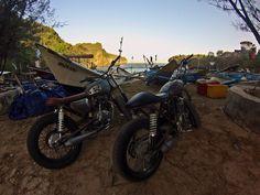 Riding to gesing beach #GL200 #Scorpio225