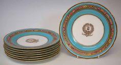 Set de 8 pratos em porcelana Inglesa do sec.19th, 23cm de diametro, 1,780 USD / 1,580 EUROS / 6,310 REAIS / 11,500 CHINESE YUAN soulcariocantiques.tictail.com