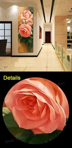 Wholesale 3 Piece Canvas Wall Art Landscape Oil Painting Pink Flowers Home Decorative Art Picture Print On Canvas(No Frame), Free shipping, $35.85/Set | DHgate Mobile