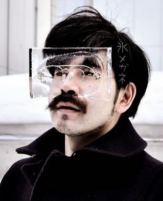 Wearable Ice Masks - A Creative Art by Baku Maeda - http://jugglu.com/wearable-ice-masks-art-baku-maeda.php