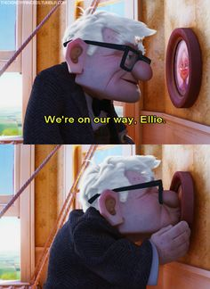 Carl and Elle are the cutest ever. I cry through their story every time! Up , Disney Pixar Disney Pixar, Run Disney, Disney And Dreamworks, Disney Magic, Disney Movies, Walt Disney, Disney Animation, Disney Puns, Disney Stuff