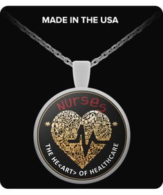 The Heart Of Healthcare - Nurse Round Pendant Necklace