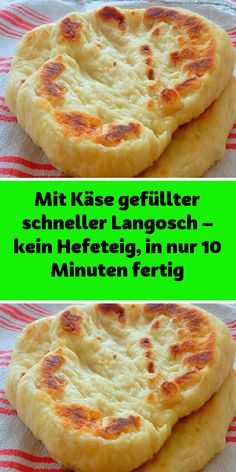 Mit Käse gefüllter schneller Langosch – kein Hefeteig in nur 10 Minuten fertig Ingredients 1 cup of natural yogurt tsp salt tsp sugar tsp baking powder 2 cups of flour 2 cups of cheese to taste Oil for bread Desserts For A Crowd, Healthy Desserts, Vegan Sweets, Easy Cake Recipes, Cookie Recipes, Bread Recipes, Snacks Pizza, Pizza Pizza, Law Carb