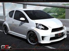 Toyota Aygo Komplettvers Spoiler Set Body Kit Tuning Umbau neu Verbau