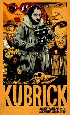 "Stanley Kubrick by Amancay Nahuelpan for ""Stanley Kubrick"" Week at AshcanAllstars.com"