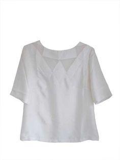 Naoko creme silke top by Linda MAi Phung   on My Eco Wardrobe