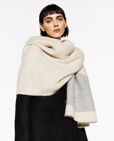 SOFT WIDE STRIPED SCARF-Scarves-ACCESSORIES-WOMAN | ZARA United States