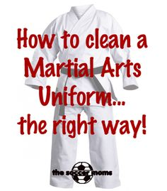 Check out these tips and tricks for cleaning a Martial Arts Uniform (gi) the right way to keep it fresh and looking good. Taekwondo, Karate, Judo, uniforms
