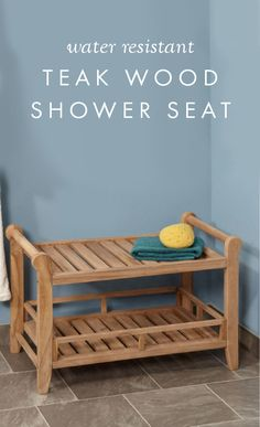 Have a lot of space, but limited storage in your walk-in shower? This Large Teak Rectangular Shower Seat is your answer! This water-resistant piece provides convenience and efficiency, with handles that make it easy to move and a shelf for storage.
