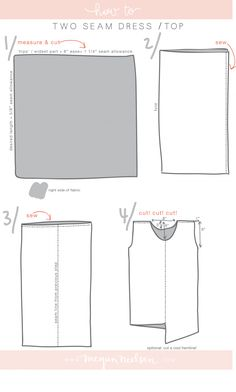 megan nielsen design diary // tutorial: the two seam dress