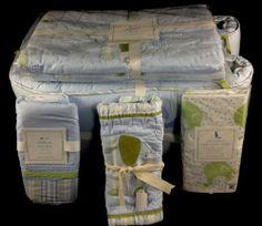 Pottery Barn Kids Eli's Elephant Crib Bumper Toddler Quilt Skirt Sham Sheet New | eBay