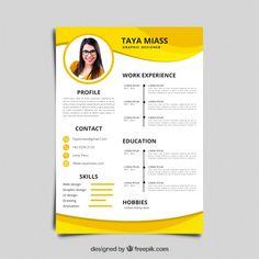 Cv template resume Vectors, Photos and PSD files Creative Cv Template, Free Cv Template Word, Modern Resume Template, Microsoft Word, Beau Cv, Modelo Curriculum, Portfolio Web, Visual Resume, Logos Retro