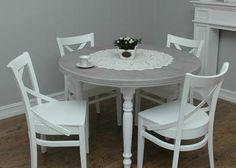 Prowansalski stół okrągły rozkładany * od ręki * producent