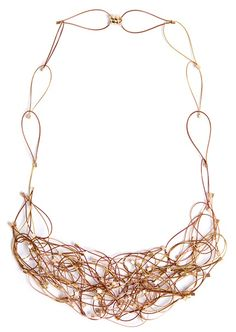 Copper and nylon-coated steel necklace with magnetic clasp by Meghan Patrice Riley. Gallery Lulo.