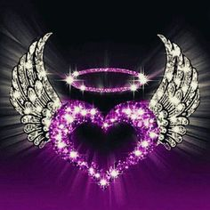 Diamond Painting Purple Heart with Wings Kit - workoffice Purple Love, All Things Purple, Purple Rain, Shades Of Purple, Purple Hearts, Purple Stuff, Butterfly Wallpaper, Heart Wallpaper, Love Wallpaper