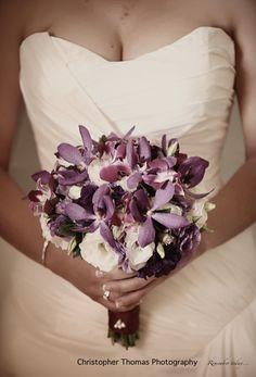 Brisbane Wedding Photographer, Christopher Thomas Photography, purple wedding flowers, purple wedding theme,