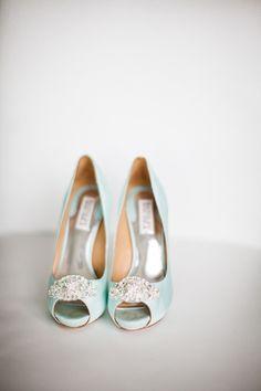 Pretty peep toes. Photography by Lauren Gabrielle Photography / LaurenGabrielle.com, Shoes by Badgley Mischka / badgleymischka.com/
