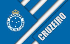 Download wallpapers Cruzeiro FC, Belo Horizonte, Minas Gerais, Brazil, 4k, material design, blue white abstraction, Brazilian football club, Serie A, football
