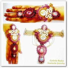 """Galeria Bajka Soutache Jewelry: Bransoletka (bracelet) """"Lakszmi"""""""