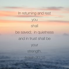 As a busy society and culture, it goes against the grain to have quiet time with God. Yet, he whispers to our hearts that if we do this, it is #inhispresence that we will find strength. Jesus, let us seek you today in quiet moments of holy hush that we might glean energy for the day and live in your way. Isaiah 30:15-18 for today's#biblereading