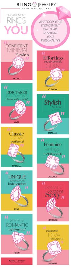 What does your engagement ring shape say about your personality? Take a look and let us know what your find...