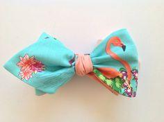 Flamingo men's bow tie reversible with flamingo by GunsandAprons, $15.00