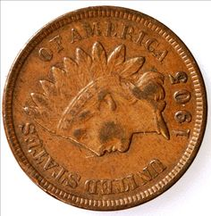 1903 Indian Head One Cent Coin - FULL LIBERTY - Excellent Grade - Coins - Coin Collection - Copper Coinage - Christmas Gift - Penny by EarthlyCrystals33 on Etsy