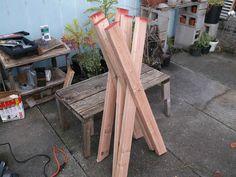 DIY Sawbuck Bench