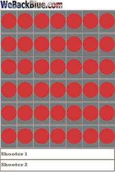 """Connect 4 Style Shooting targets 11"""" x 17"""" pack of 20 by WeBackBlue on Etsy"""