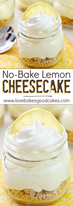 This No-Bake Lemon Cheesecake is light, fluffy, and perfectly lemony! It will become a new favorite dessert!