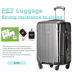Amazon.com | Merax 3 Piece P.E.T Luggage Set Eco-friendly Light Weight Spinner Suitcase | Luggage Sets Best Luggage, Luggage Sets, Spinner Suitcase, Business Travel, 3 Piece, Traveling By Yourself, Eco Friendly, Amazon, Pets