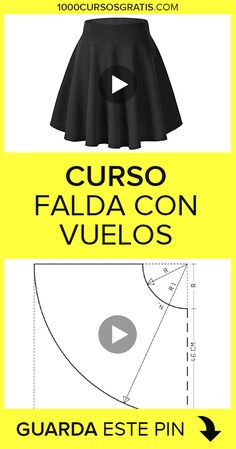 COSTURA In this free course we will explain how to make a skirt with flights. We will wait for you! Girls Dresses Sewing, Sewing Clothes, Diy Clothes, Back Neck Designs, Blouse Neck Designs, Baby Dress Patterns, Sewing Patterns, Circle Skirt Pattern, How To Make Skirt