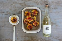 Grilled Peaches with Sparkling Chardonnay