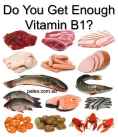 Description Thiamine, also known as vitamin is the first discovered vitamin from the vitamin B group. Vitamin is an essential component of the enzyme thiamine pyrophosphate, which is involved in the metabolism of Dukan Diet Phase 1, Paleo Diet, Diet Foods, Protein Foods, High Protein, Fish And Meat, Fish And Seafood, Seafood Stock, Foods For Migraines